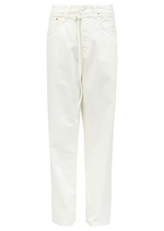 Acne Studios 1991 Toj belted high-rise straight-leg jeans