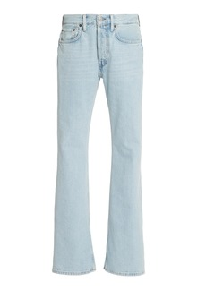 Acne Studios 1992F Blonde Sky Rigid High-Rise Bootcut Jeans