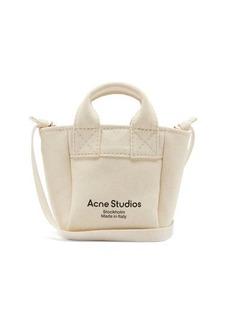 Acne Studios Aleah logo-print cotton-canvas cross-body bag