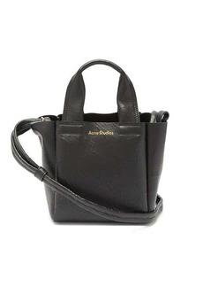Acne Studios Aleah logo-print crinkled-leather cross-body bag