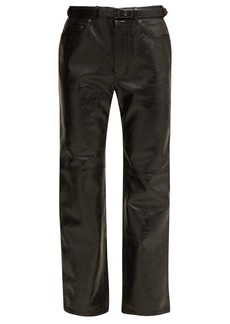 Acne Studios Belted leather trousers