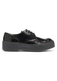 Acne Studios Bentigo exaggerated-sole leather Derby shoes