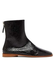 Acne Studios Berta square-toe grained patent-leather boots