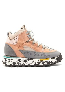 Acne Studios Bertrand canvas and suede hiking boots