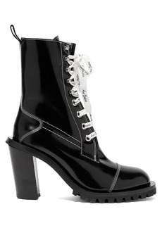 Acne Studios Block-heel topstitched leather ankle boots