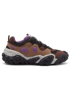 Acne Studios Bolzter suede and mesh trainers