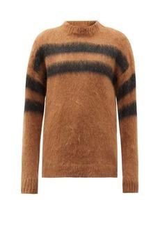 Acne Studios Brushed intarsia-striped sweater
