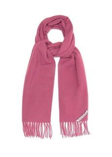 Acne Studios Canada Skinny fringed wool scarf
