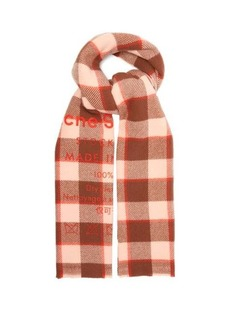 Acne Studios Cassiar care label-print wool scarf