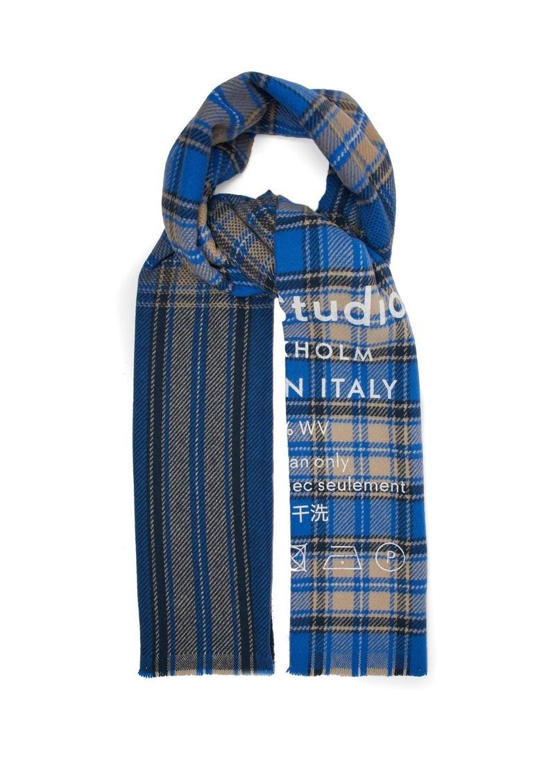 a55a8df7975 Acne Studios Acne Studios Cassiar logo-flocked virgin wool scarf ...