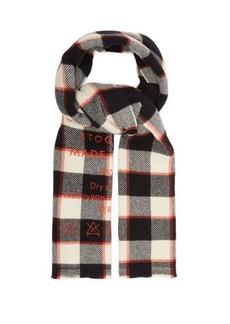 Acne Studios Cassiar logo-print checked wool scarf