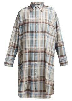 Acne Studios Checked cotton shirtdress