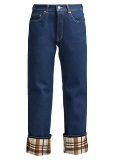 Acne Studios Checked-cuff straight-leg jeans