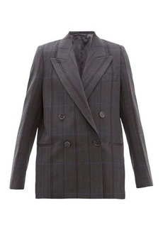 Acne Studios Checked double-breasted wool-blend blazer