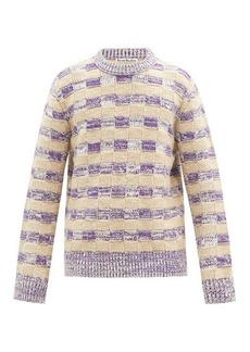 Acne Studios Checked-jacquard wool-blend sweater