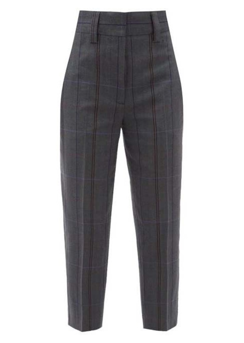 Acne Studios Checked wool-blend tailored trousers