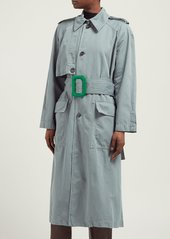 Acne Studios Cotton and linen-blend trench coat