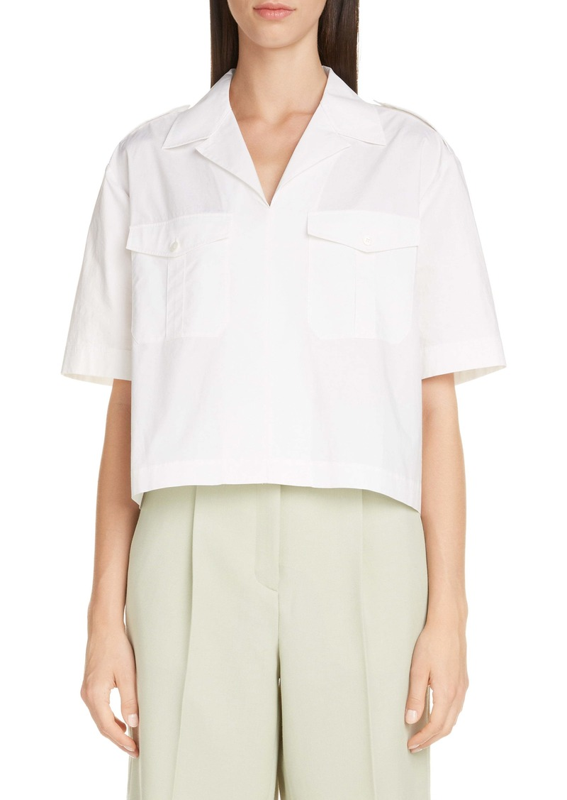 Acne Studios Crop Cotton Poplin Shirt