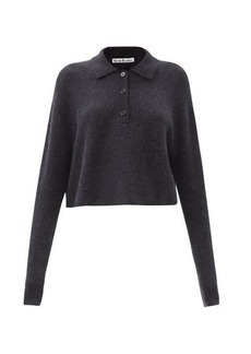 Acne Studios Cropped polo sweater