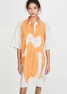 Acne Studios Daile Cotton Magazine Dress