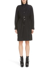 Acne Studios Damiena Long Sleeve Belted Shirtdress