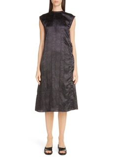 Acne Studios Darienne Shiny Embossed Midi Dress