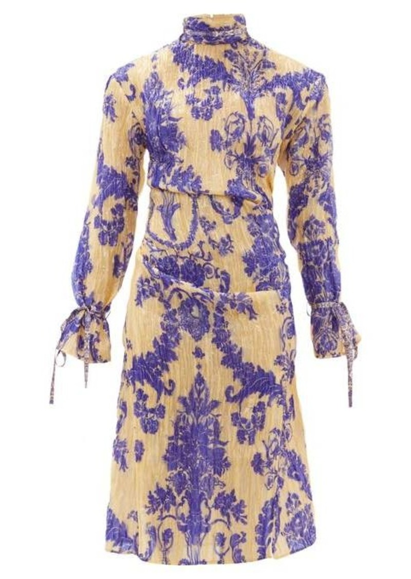 Acne Studios Deera floral-print silk-blend dress
