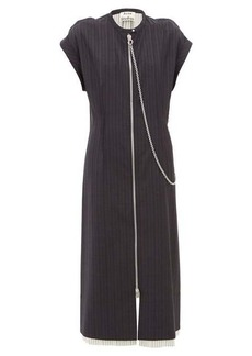 Acne Studios Di pinstriped wool dress