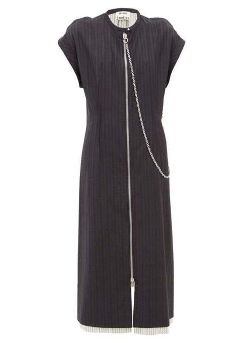 Acne Studios Di pinstriped wool dress