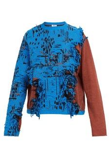 Acne Studios Distressed cotton-blend sweater
