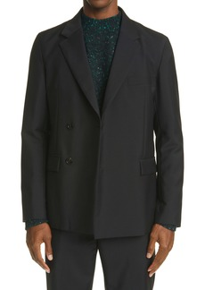 Acne Studios Double Breasted Mohair Jacket