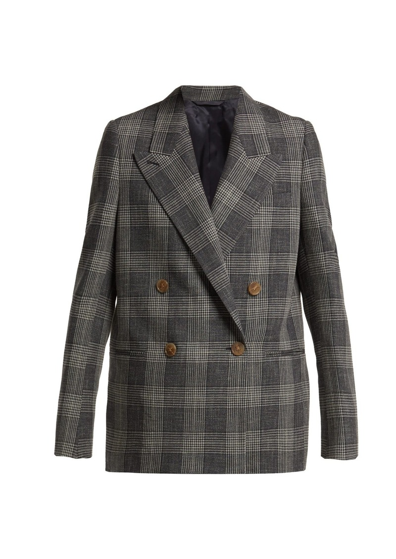 ffa162c14ab Acne Studios Acne Studios Double-breasted Prince of Wales-checked ...