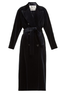 Acne Studios Double-breasted velvet robe coat