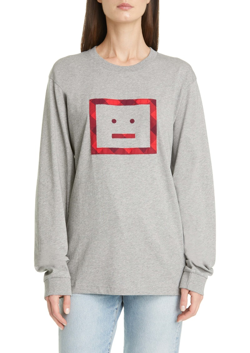Acne Studios Elwood Face Patch Long Sleeve Tee