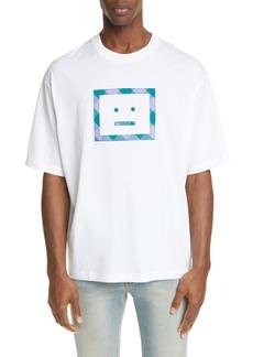 Acne Studios Erian Check Face T-Shirt