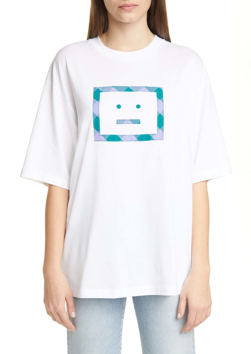 Acne Studios Erian Check Face Tee