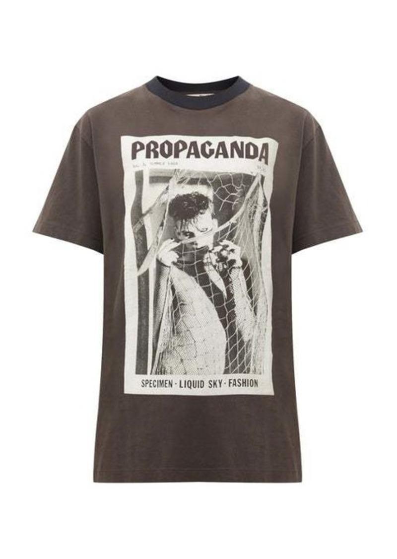 Acne Studios Erice Propaganda magazine-print cotton T-shirt