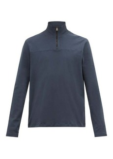 Acne Studios Evias quarter-zip cotton top