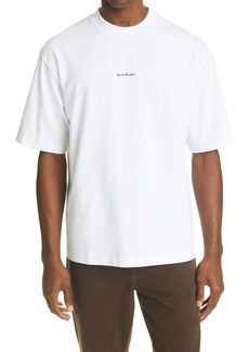 Acne Studios Extorr Stamp Logo Organic Cotton T-Shirt