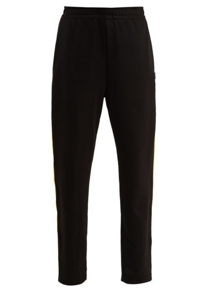 Acne Studios Face side-stripe jersey track pants