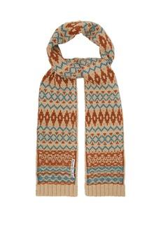 Acne Studios Fair Isle wool scarf