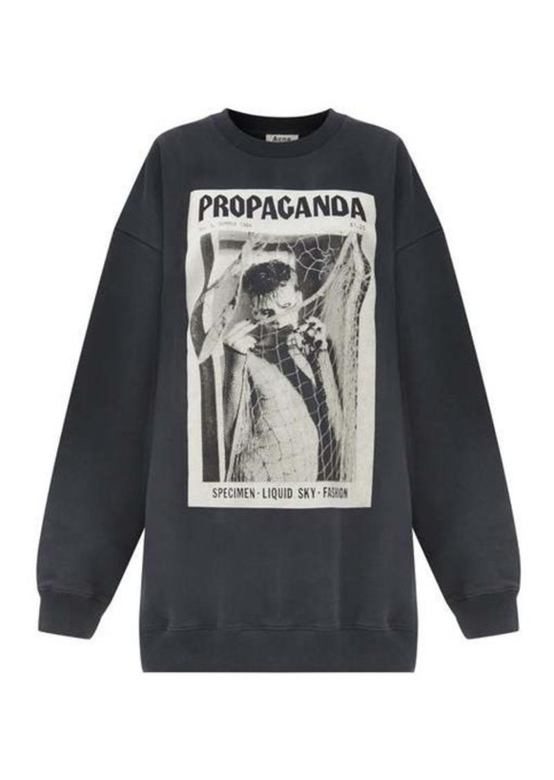 Acne Studios Fina Propaganda magazine-print cotton sweatshirt