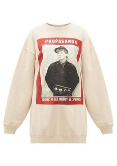 Acne Studios Finale Propaganda magazine-print cotton sweatshirt