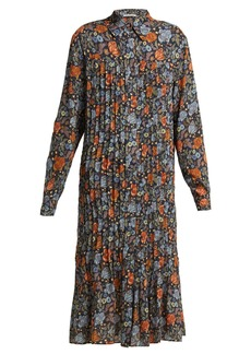 Acne Studios Floral-print pleated dress