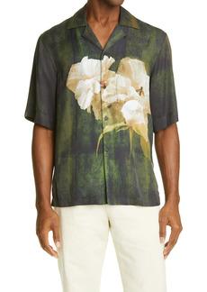 Acne Studios Floral Short Sleeve Button-Up Shirt