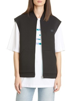 Acne Studios Foley Face Patch Fleece Vest