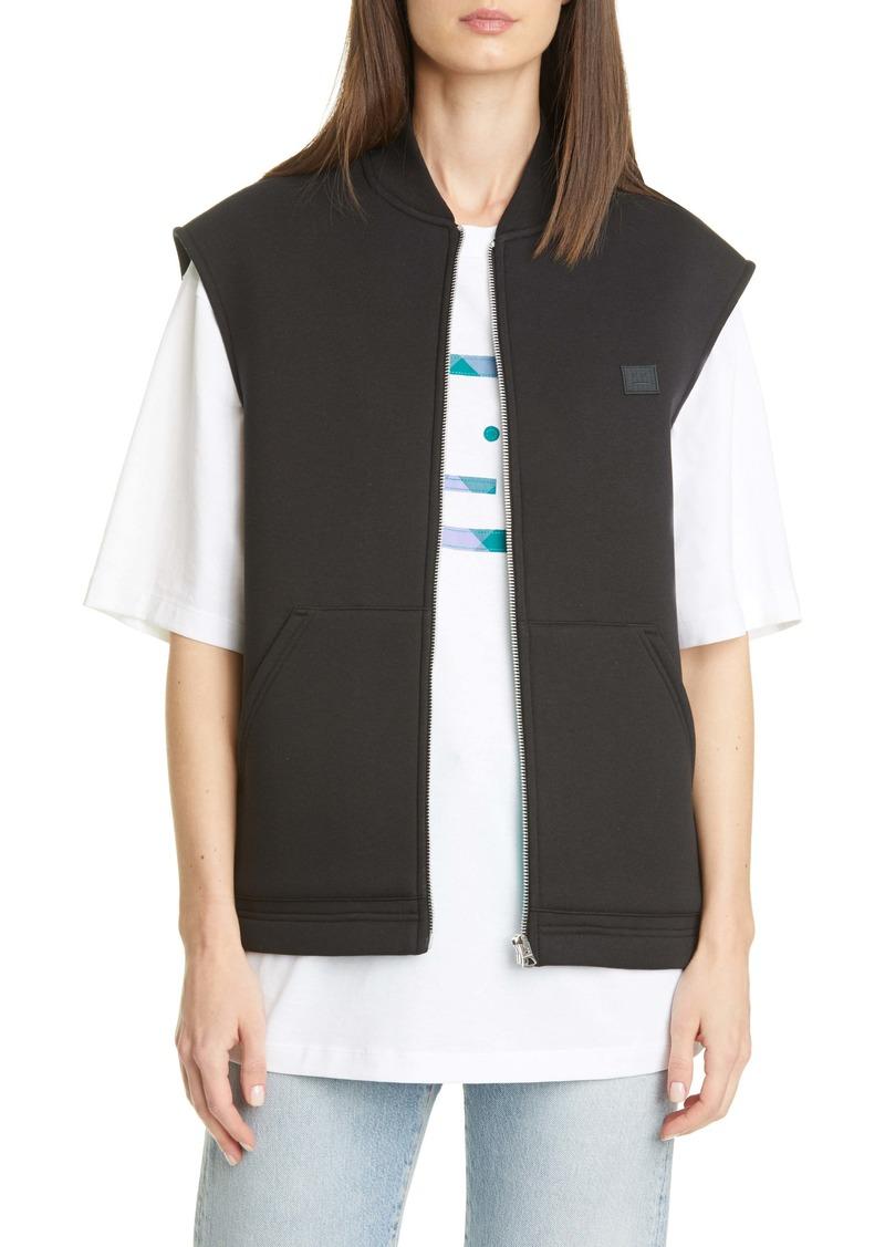 Acne Studios Foley Face Patch Fleece Vest