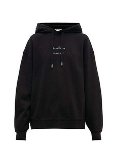 Acne Studios Fyola broken-logo cotton hooded sweatshirt