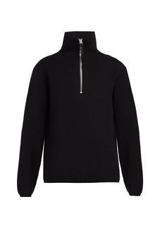 Acne Studios Half-zip wool-blend sweater