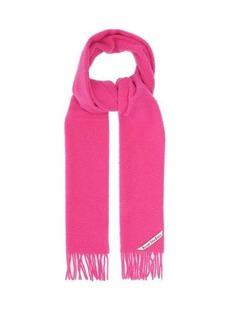 Acne Studios Holmes logo-label pilled-wool twill scarf